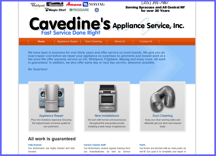Cavedines Appliance Service