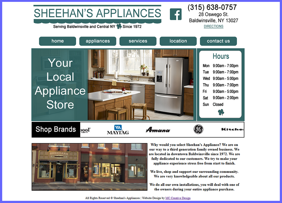 Sheehans Appliances